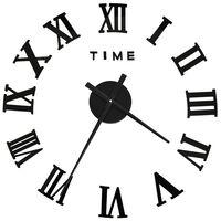 vidaXL Sieninis laikrodis, juodas, 100cm, modernaus dizaino, 3D, XXL