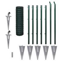 vidaXL Euro tvora, žalia, 10x1m, plienas
