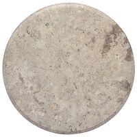 vidaXL Stalviršis, pilkos spalvos, skersmuo 50x2,5cm, marmuras