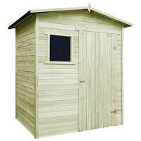 vidaXL Sodo namelis-pašiūrė, 1,5x2m, impregnuota pušies mediena