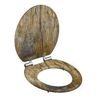 SCHÜTTE Klozeto sėdynė Solid Wood MDF, rudos spalvos