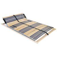 vidaXL Grotelės lovai su 42 lentjuostėmis, 7 zonos, 100x200cm
