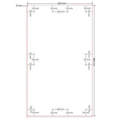 vidaXL Skelbimų lentos, 10vnt., 860x620x3mm, HDF, DIN A1 dydis