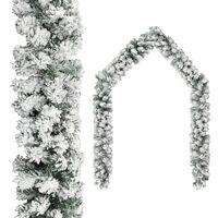 vidaXL Kalėdinė girlianda, žalios spalvos, 20m, PVC, dengta sniegu