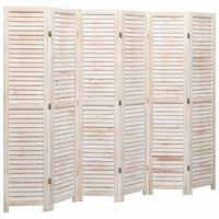vidaXL Kambario pertvara, 6 dalių, baltos spalvos, 210x165 cm, mediena
