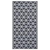 vidaXL Lauko kilimas, juodos spalvos, 80x150cm, PP