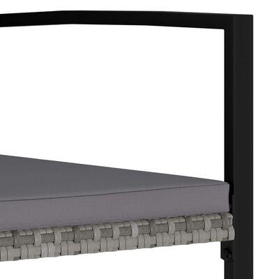 vidaXL Sodo valgomojo baldų komplektas, 7 dalių, pilkas, poliratanas