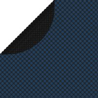 vidaXL Saulę sugerianti baseino plėvelė, juoda/mėlyna, 455cm, PE