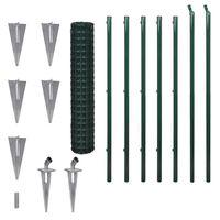 vidaXL Euro tvora, žalia, 10x1,5m, plienas