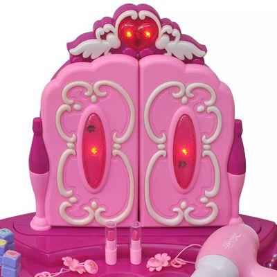 Vaikiškas Žaislinis Kosmetinis Staliukas su 3 Veidrodžiais