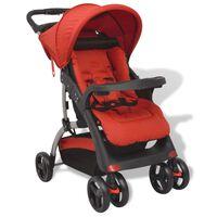 vidaXL Vaikiškas vežimėlis, raudonas, 102x52x100 cm