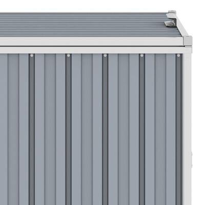 vidaXL Konteinerių stoginė, pilka, 213x81x121cm, plienas, trivietė