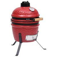 vidaXL Keramikinė Kamado kepsninė-rūkykla, 56 cm, raudona spalva