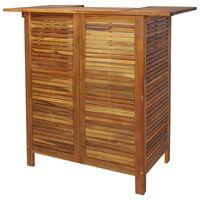 vidaXL Baro stalas, 110x50x105cm, akacijos medienos masyvas