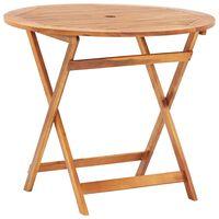 vidaXL Sulankstomas sodo stalas, 90x75cm, akacijos medienos masyvas