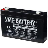 VMF Akumuliatorius, 6 V, 7 Ah, atsarginiam ir cikliniam naudojimui