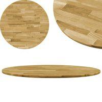 vidaXL Stalviršis, masyvi ąžuolo mediena, apvalus, 23mm, 700mm