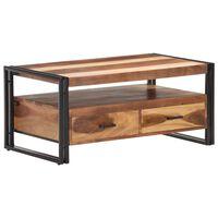 vidaXL Kavos staliukas, 100x55x45cm, akacijos medienos masyvas