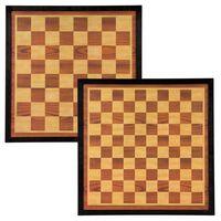 Abbey Game Šachmatų ir šaškių lenta, ruda ir smėlio, 41x41cm, mediena