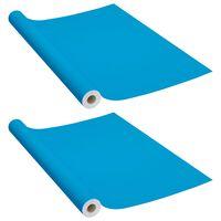 vidaXL Lipnios plėvelės baldams, 2vnt., mėlynos, 500x90cm, PVC