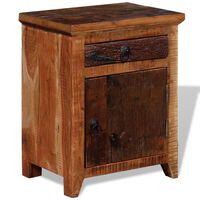 vidaXL Naktinis staliukas, akacijos ir perdirbtos medienos masyvas