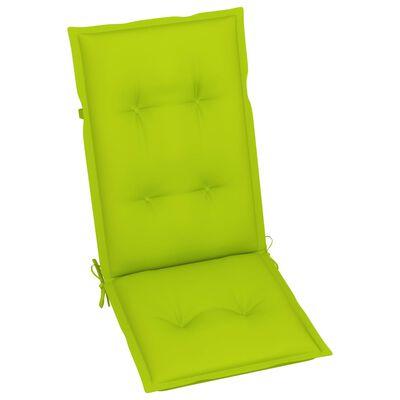 vidaXL Atlošiamos sodo kėdės su pagalvėlėmis, 4vnt., akacijos masyvas