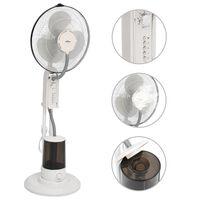 vidaXL Dulksną skleidžiantis pastatomas ventiliatorius, baltas