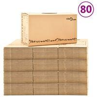 vidaXL Kraustymosi dėžės, 80vnt., 60x33x34cm, XXL (4x30145)