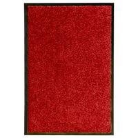 vidaXL Durų kilimėlis, raudonos spalvos, 40x60cm, plaunamas