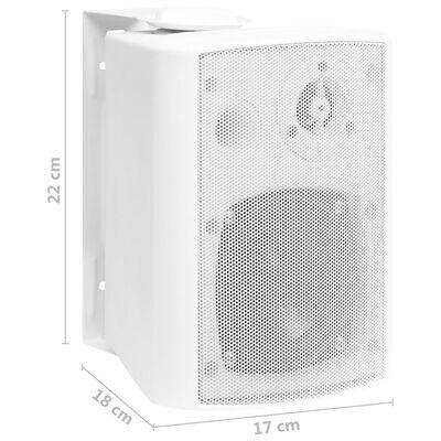 vidaXL Prie sienos montuojami stereo garsiakalbiai, 2vnt., balti, 80W