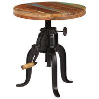 vidaXL Šoninis staliukas, 45x(45-62)cm, perdirbtos med. mas. ir ketus