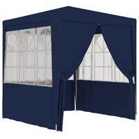 vidaXL Proginė palapinė su šoninėmis sienomis, mėlyna, 2x2m, 90g/m²