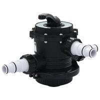 """vidaXL Daugiaprievadinis vožtuvas smėlio filtrui, ABS, 1,5"""", 6 krypčių"""