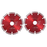 vidaXL Turbo deimantiniai pjovimo diskai, 2vnt., plienas, 125mm