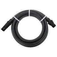 vidaXL Siurbimo žarna su PVC jungtimis, juodos spalvos, 4m, 22mm