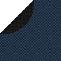 vidaXL Saulę sugerianti baseino plėvelė, juoda/mėlyna, 381cm, PE