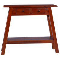 vidaXL Konsolinis staliukas, rudas, 90x30x75cm, raudonmedžio masyvas