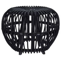 Home&Styling Kubu taburetė Brussel, juodos spalvos, ratanas