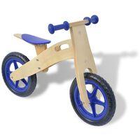 vidaXL Balansinis dviratukas, medinis, mėlynas