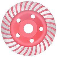vidaXL Turbo deimantinis šlifavimo diskas, 125mm, lėkštės tipo