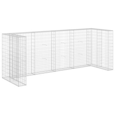 vidaXL Gabiono siena konteineriams, 320x100x120cm, plienas