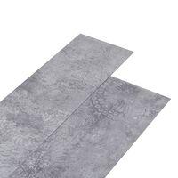 vidaXL Grindų plokštės, cemento pilkos spalvos, PVC, 5,26m², 2mm