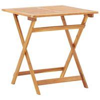 vidaXL Sulankstomas sodo stalas, 70x70x75cm, akacijos medienos masyvas