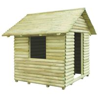 vidaXL Žaidimų namelis, impregnuota pušies mediena, 167x150x151cm