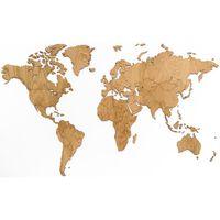 MiMi Innovations Dekoracija-žemėlapis Exclusive, 130x78cm, ąžuolas