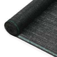 vidaXL Uždanga teniso kortams, juoda, 1,4x25m, HDPE