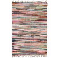 vidaXL Chindi kilimėlis, rankų darbo, medvilnė, 120x170cm, įv. sp.