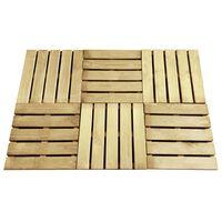 vidaXL Grindų plytelės, 6vnt., žalios spalvos, 50x50cm, mediena