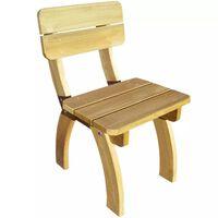 vidaXL Sodo kėdė, impregnuota pušies mediena