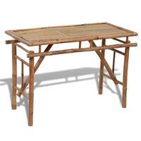 vidaXL Sulankstomas sodo stalas, 120x50x77cm, bambukas